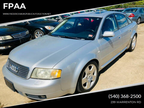 2004 Audi A6 for sale at FPAA in Fredericksburg VA