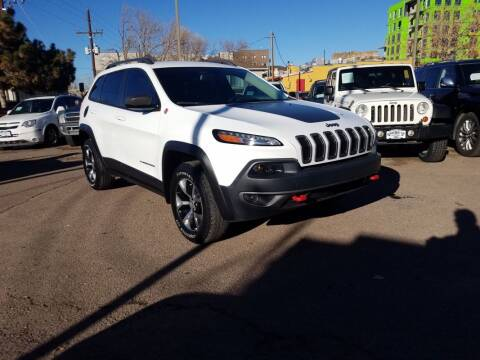 2016 Jeep Cherokee for sale at BERKENKOTTER MOTORS in Brighton CO