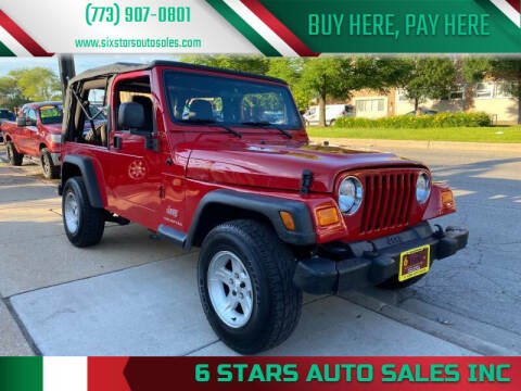 2005 Jeep Wrangler for sale at 6 STARS AUTO SALES INC in Chicago IL
