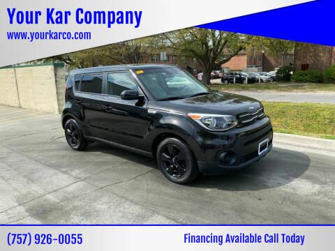 2019 Kia Soul for sale at Your Kar Company in Norfolk VA