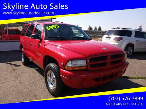 1999 Dodge Durango for sale at Skyline Auto Sales in Santa Rosa CA