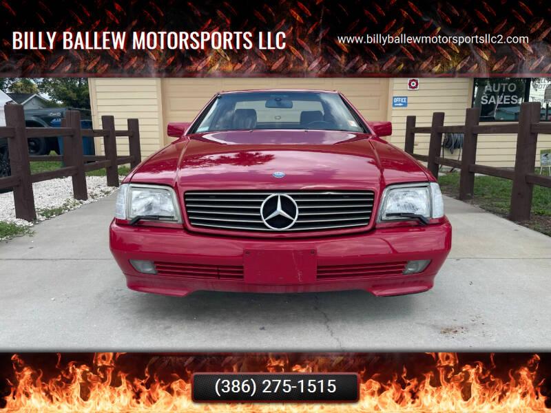 1994 Mercedes-Benz SL-Class for sale at Billy Ballew Motorsports LLC in Daytona Beach FL