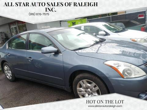 2010 Nissan Altima for sale at All Star Auto Sales of Raleigh Inc. in Raleigh NC