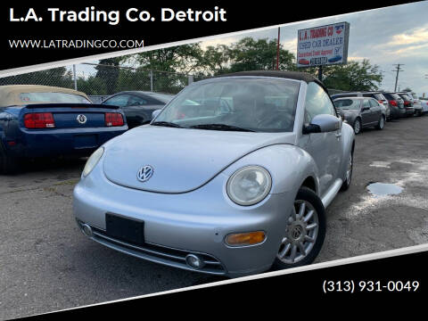 2004 Volkswagen New Beetle Convertible for sale at L.A. Trading Co. Detroit in Detroit MI