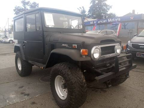 1971 Toyota Land Cruiser for sale at All American Motors in Tacoma WA