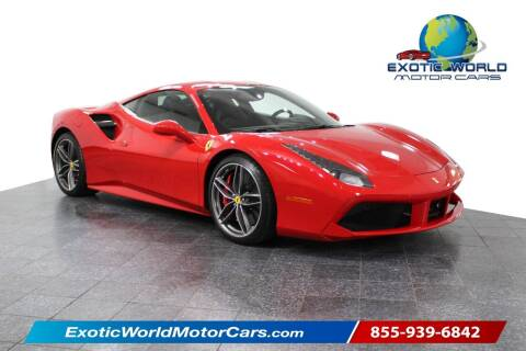 2016 Ferrari 488 GTB for sale at Exotic World Motor Cars in Addison TX