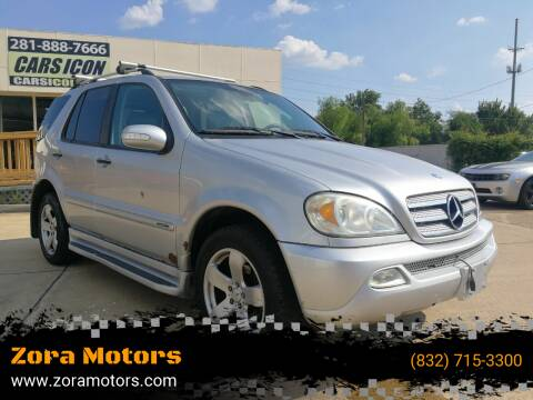 2005 Mercedes-Benz M-Class for sale at Zora Motors in Houston TX