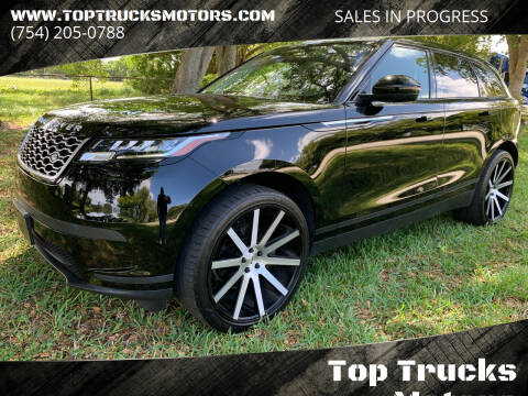 2019 Land Rover Range Rover Velar for sale at Top Trucks Motors in Pompano Beach FL