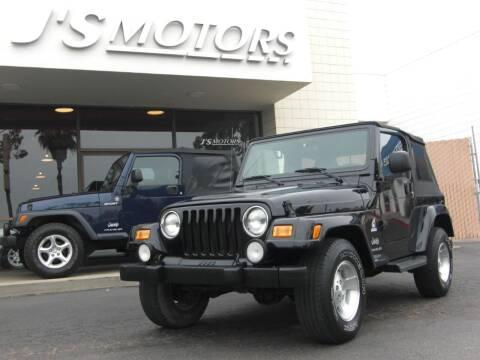 2003 Jeep Wrangler for sale at J'S MOTORS in San Diego CA