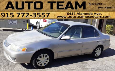 2002 Toyota Corolla for sale at AUTO TEAM in El Paso TX