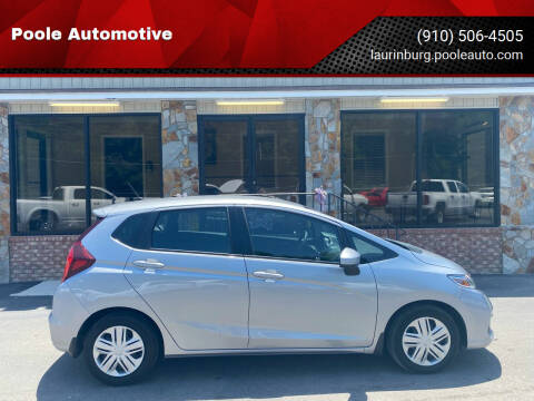 2018 Honda Fit for sale at Poole Automotive in Laurinburg NC