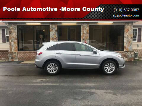 2018 Acura RDX for sale at Poole Automotive in Laurinburg NC