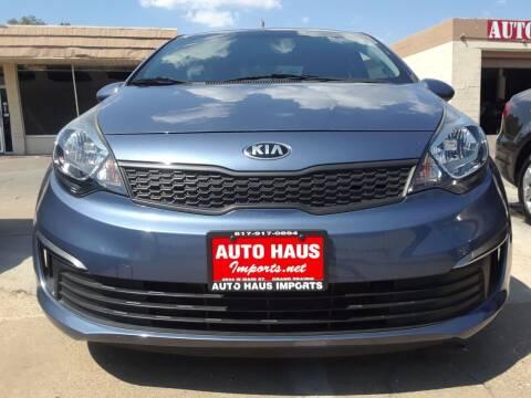 2016 Kia Rio for sale at Auto Haus Imports in Grand Prairie TX