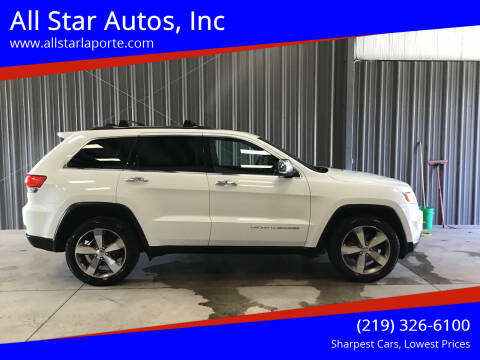 2016 Jeep Grand Cherokee for sale at All Star Autos, Inc in La Porte IN