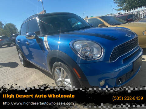 2012 MINI Cooper Countryman for sale at High Desert Auto Wholesale in Albuquerque NM
