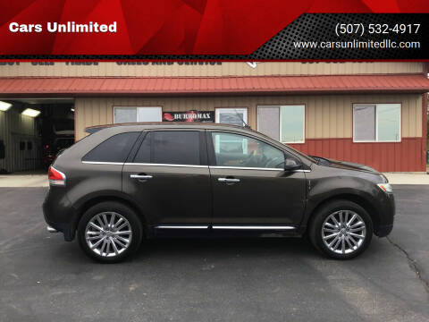 2011 Lincoln MKX for sale at Cars Unlimited in Marshall MN