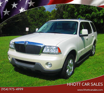 2003 Lincoln Aviator for sale at HHOTT CAR SALES in Deerfield Beach FL