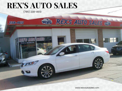 2014 Honda Accord for sale at Rex's Auto Sales in Junction City KS