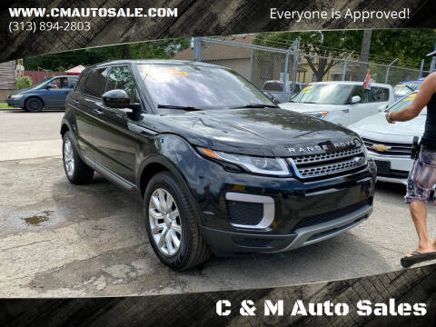2016 Land Rover Range Rover Evoque for sale at C & M Auto Sales in Detroit MI