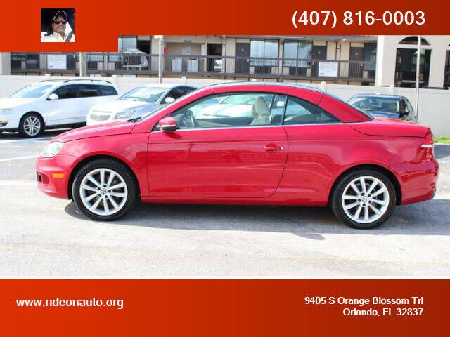 2013 Volkswagen Eos for sale at Ride On Auto in Orlando FL