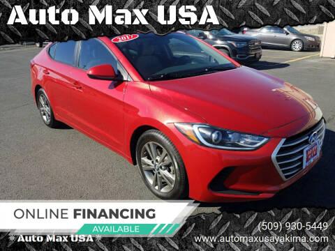 2017 Hyundai Elantra for sale at Auto Max USA in Yakima WA