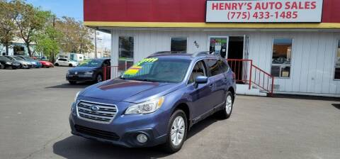 2015 Subaru Outback for sale at Henry's Autosales, LLC in Reno NV