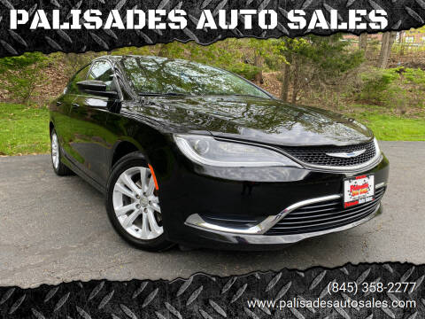 2016 Chrysler 200 for sale at PALISADES AUTO SALES in Nyack NY