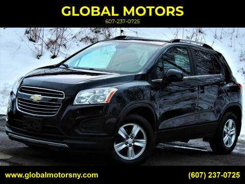 2015 Chevrolet Trax for sale at GLOBAL MOTORS in Binghamton NY