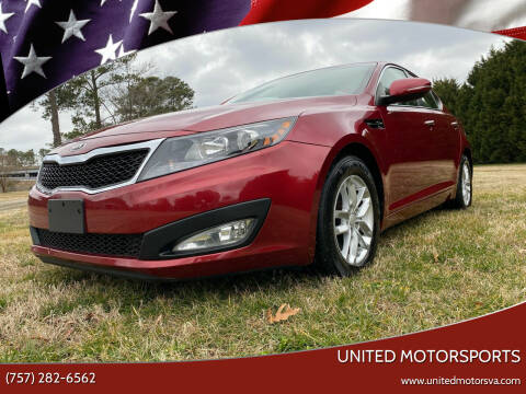 2013 Kia Optima for sale at United Motorsports in Virginia Beach VA