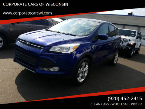 2014 Ford Escape for sale at CORPORATE CARS OF WISCONSIN in Sheboygan WI