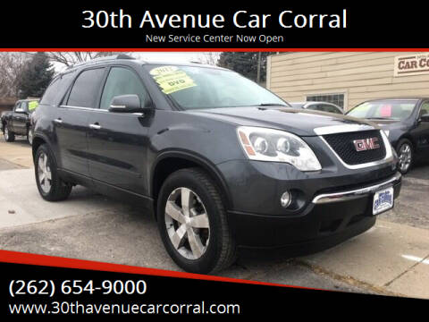 2012 GMC Acadia for sale at 30th Avenue Car Corral in Kenosha WI
