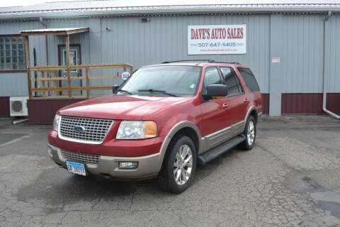 2003 Ford Expedition for sale at Dave's Auto Sales in Winthrop MN