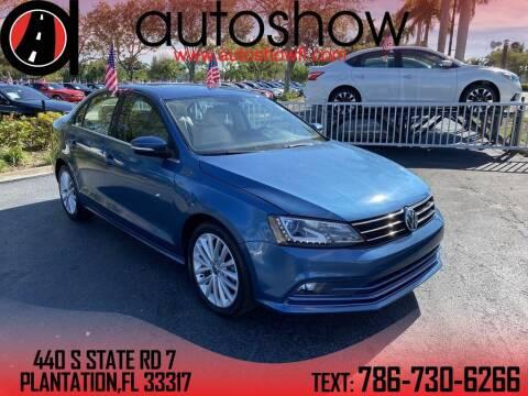 2016 Volkswagen Jetta for sale at AUTOSHOW SALES & SERVICE in Plantation FL