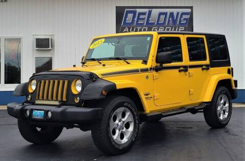 2015 Jeep Wrangler Unlimited for sale at DeLong Auto Group in Tipton IN
