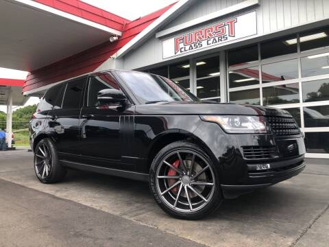 2016 Land Rover Range Rover for sale at Furrst Class Cars LLC  - Independence Blvd. in Charlotte NC