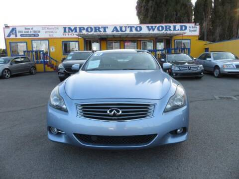 2011 Infiniti G37 Convertible for sale at Import Auto World in Hayward CA