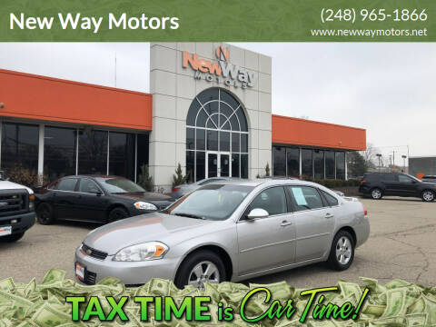 2008 Chevrolet Impala for sale at New Way Motors in Ferndale MI