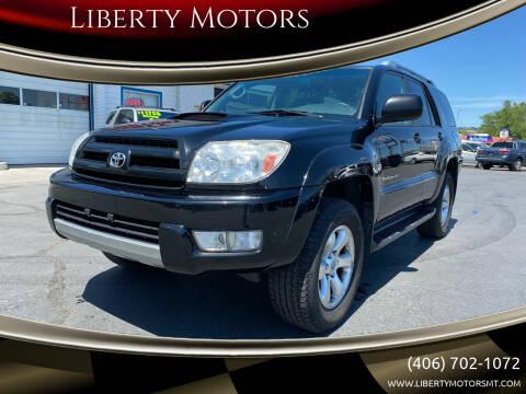 2005 Toyota 4Runner for sale at Liberty Motors in Billings MT