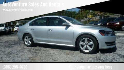 2012 Volkswagen Passat for sale at AutoVenture Sales And Rentals in Holly Hill FL