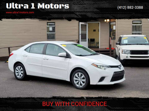2015 Toyota Corolla for sale at Ultra 1 Motors in Pittsburgh PA