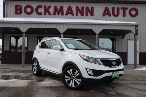 2012 Kia Sportage for sale at Bockmann Auto Sales in St. Paul NE