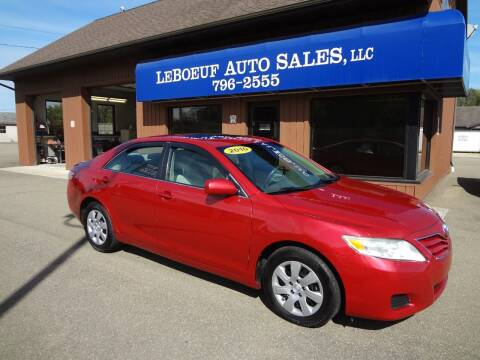 2010 Toyota Camry for sale at LeBoeuf Auto Sales in Waterford PA