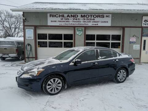 2012 Honda Accord for sale at Richland Motors in Cleveland OH
