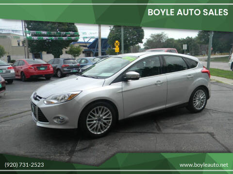 2012 Ford Focus for sale at Boyle Auto Sales in Appleton WI