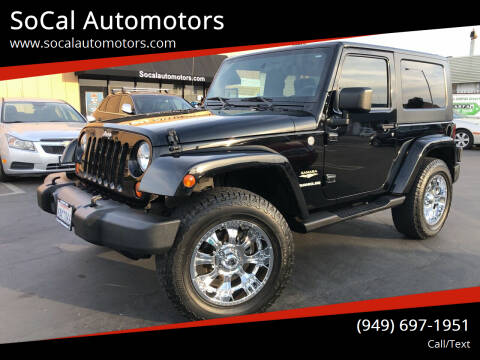 2007 Jeep Wrangler for sale at SoCal Auto Motors in Costa Mesa CA