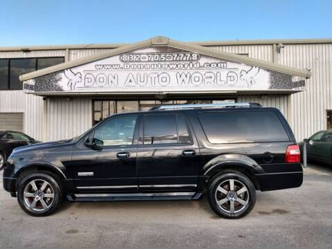 2008 Ford Expedition EL for sale at Don Auto World in Houston TX