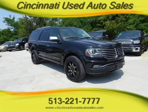 2015 Lincoln Navigator L for sale at Cincinnati Used Auto Sales in Cincinnati OH