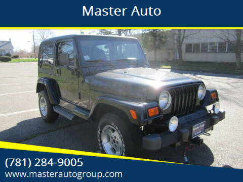 2001 Jeep Wrangler for sale at Master Auto in Revere MA