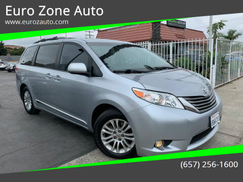 2013 Toyota Sienna for sale at Euro Zone Auto in Stanton CA