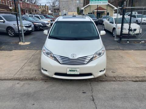 2014 Toyota Sienna for sale at Murrays Used Cars in Baltimore MD